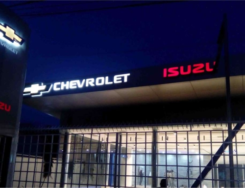 Isuzu Chevrolet office Victoria island pylon and facial sign