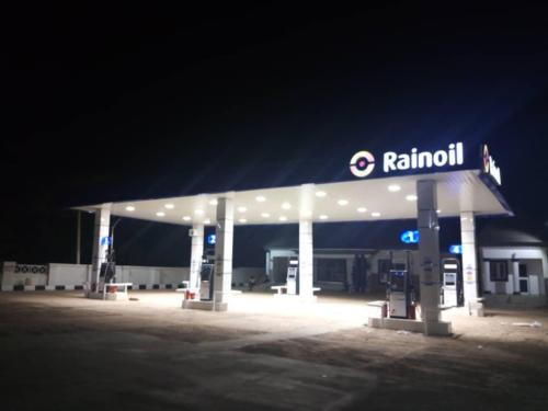 Rainoil Gas Station canopy Sign07